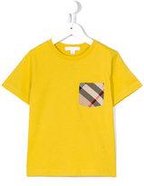 Burberry house check pocket T-shirt - kids - Cotton - 6 yrs