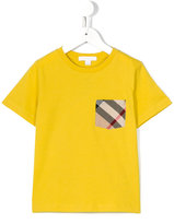 Burberry house check pocket T-shirt - kids - Cotton - 8 yrs