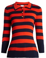 Frame Rugby striped wool and cashmere-blend sweater