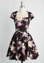 Ixia Cornerstone of Classy Dress in Black Bouquet