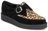 T.U.K. POINTED CREEPER BLACK / Leopard / Fur