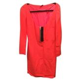 Miu Miu Orange Silk Dress