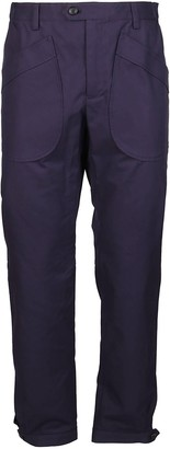 Lanvin Ink Blue Cotton Trousers
