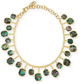 Lele Sadoughi Staggered Abalone Shell Station Necklace