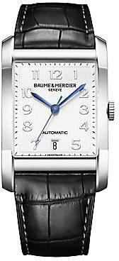 Baume & Mercier Women's Hampton Stainless Steel & Alligator Automatic Strap Watch/Black