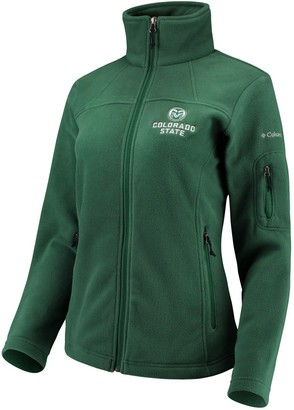 Women's Columbia Green Colorado State Rams Team Give & Go Full-Zip Jacket