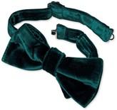 Charles Tyrwhitt Green velvet ready-tied bow tie