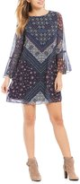 Daniel Cremieux Raley Medallion Printed Chiffon Dress