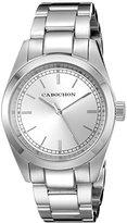 Cabochon Women's 507 De Ce Monde Analog Display Swiss Quartz Silver Watch