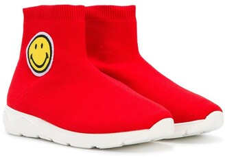 Joshua Sanders Kids smiley sock sneakers