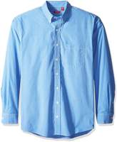 Izod Men's Big-Tall Long Sleeve Essential Check Button-Down Shirt