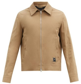 Ami Logo-patch Cotton-twill Jacket - Beige