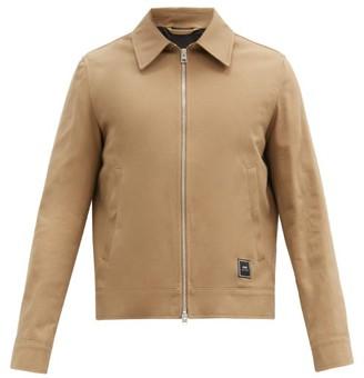 Ami Logo-patch Cotton-twill Jacket - Beige