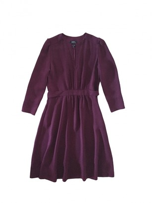 A.P.C. Burgundy Synthetic Dresses