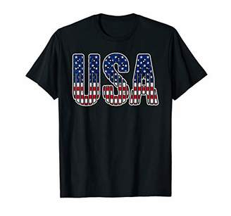 Funny Summer Casual Fourth Flag Graphic   Independence Day T-Shirt