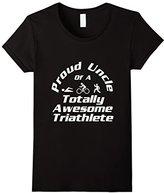 Women's Triathlete Supporter Uncle Triathlon Run Swim Cycle Niece Large