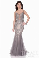 Terani Evening - Shimmering Embellishment Sweetheart Mermaid Gown 1621GL1890