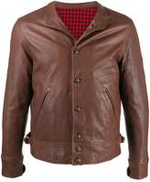 Fortela buttoned leather jacket