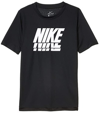 Nike Kids Trophy GFX Short Sleeve Top (Big Kids) (Black/White) Boy's T Shirt