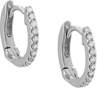 Dana Rebecca Designs 14kt White Gold Diamond Huggie