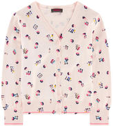 Catimini V-necked all over-printed cardigan