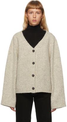 Totême Grey Marled Wool Treviso Cardigan