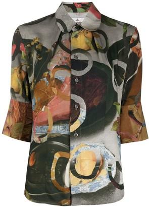 Vivienne Westwood Food Print Fitted Shirt