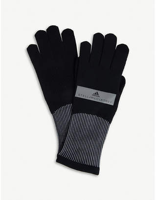 adidas by Stella McCartney Logo-detail knitted running gloves