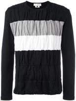 Comme des Garcons ruffled stripe sweatshirt
