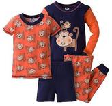 Gerber Toddler Boys' ; 4-Piece Monkey PJ Set - Orange
