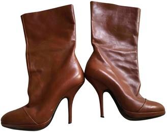 Dries Van Noten Brown Leather Boots