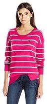 U.S. Polo Assn. Juniors Hi Lo Hem Striped Pullover Sweater