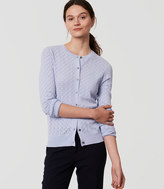 LOFT Pointelle Signature Cardigan