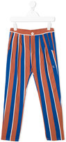 Bobo Choses pleated detail striped trousers
