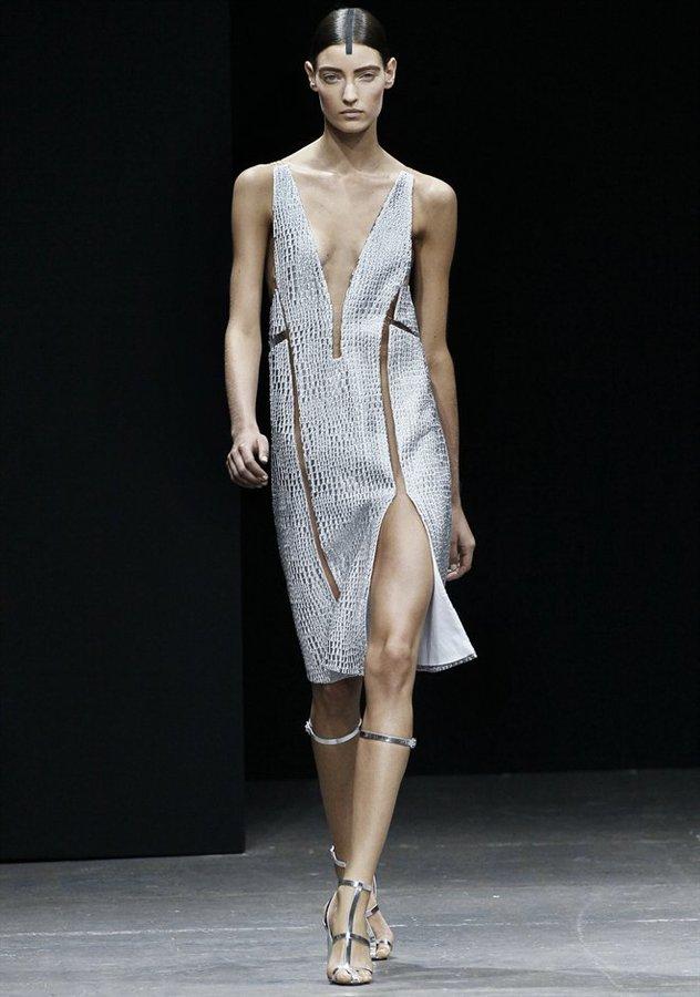 Alexander Wang V-Neck Fishline Dress With Slits