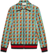 Gucci Geometric print jersey jacket