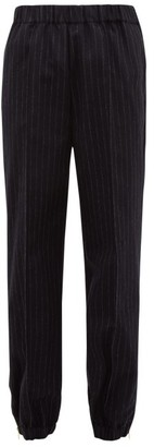 Hillier Bartley Pinstriped Tailored Wool Trousers - Womens - Navy White