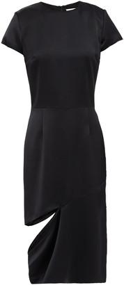 Maison Margiela Asymmetric Cutout Satin-crepe Dress