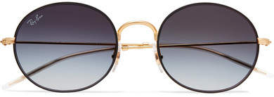 Ray-Ban Beat Round-frame Gold-tone Sunglasses
