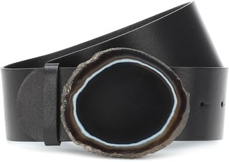 Gabriela Hearst Agate Wide leather belt