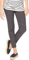 Motherhood Secret Fit Belly Printed Skinny Ankle Maternity Pant