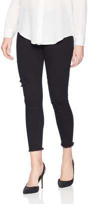 Hue Women's Star Patch Denim Moto Skimmer Legging
