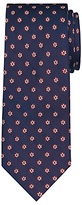 Daniel Hechter Shadow Flower Woven Silk Tie, Navy/burgundy