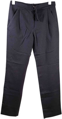 Isabel Marant Navy Wool Trousers