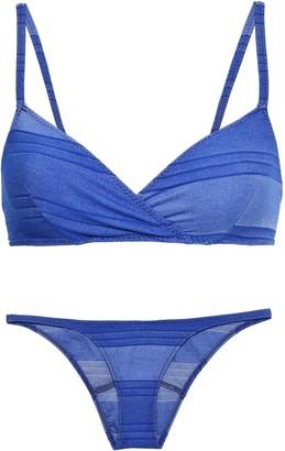 Lisa Marie Fernandez Twist-front Printed Triangle Bikini Top