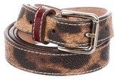 Dolce & Gabbana Leather Leopard Print Belt