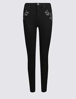 Per Una Embroidered Roma Rise Skinny Leg Jeans