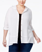 Style&Co. Style & Co Plus Size Hooded Jacquard Cardigan, Only at Macy's