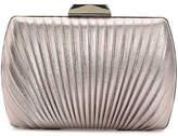 Women's Pleated Clutch -Pewter Metallic