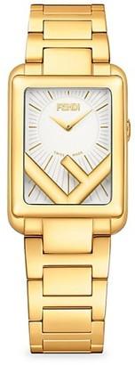 Fendi Timepieces Run Away Goldtone Stainless Steel Bracelet Watch